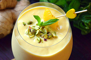 Indian style mango lassi smoothie