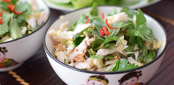 lemongrass and lime fish larb