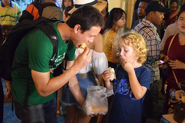 safe street food: Raffles and Migrationology's Mark Weins at Phuket's Walking Street market