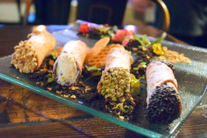 Cannoli platter at The Sawmill Pymble