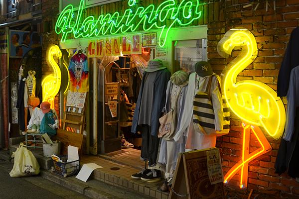 Flamingo vintage store in Shimokitazawa