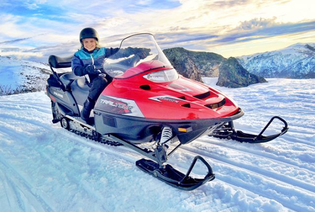 Family ski holiday hacks - Falls Creek Snowmobile