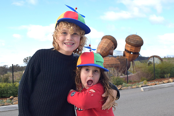 Going nuts over The POD at the National Arboretum. Canberra cool for kids