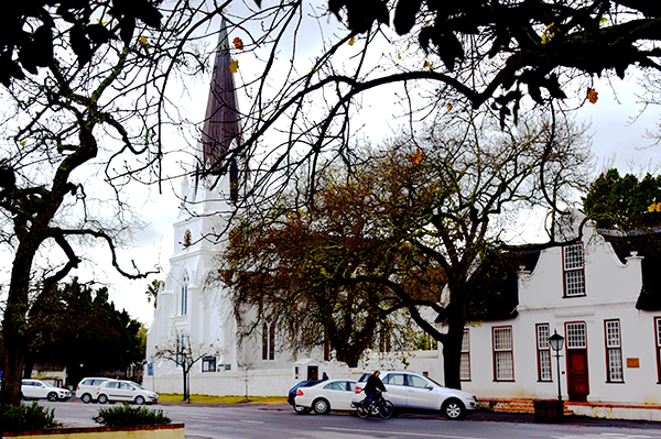 The streets of Stellenbosch - Dutch Reformed Church