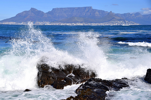 Table Mountain, viewed from Robben Island