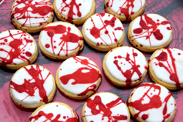 BLood Splatter Cookies for Halloween