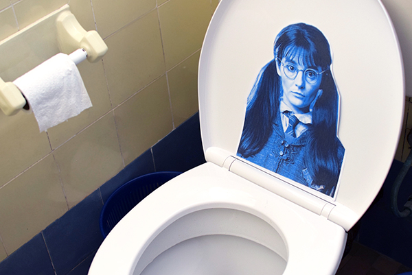 Moaning Myrtle is visiting our bathroom