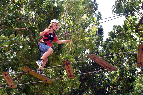Adventures in Singapore for kids: Unleashing his inner Tarzan at Forest Adventure