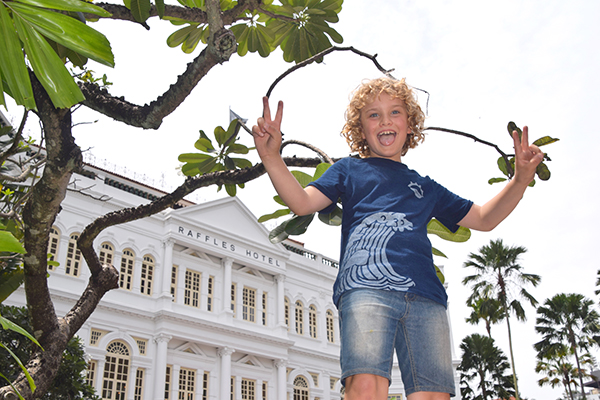 "Raffles at ""his"" hotel - Raffles Singapore"