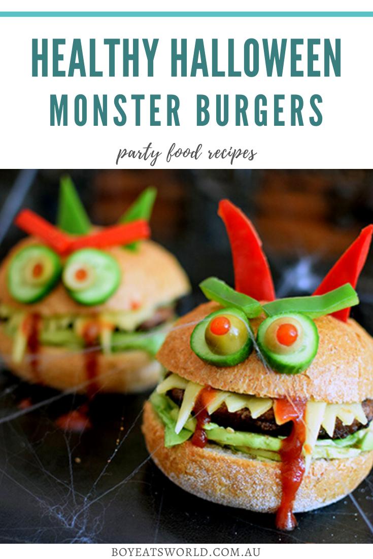 Halloween Monster Burgers to pin