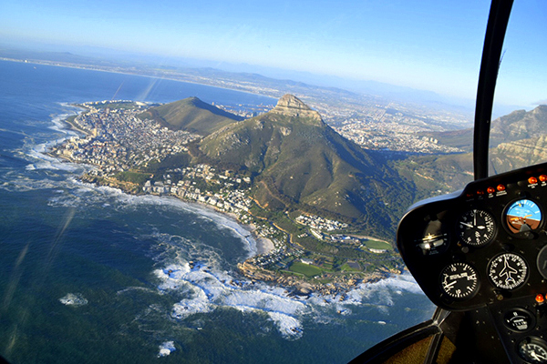 Capetown from a NAC helicopter flight