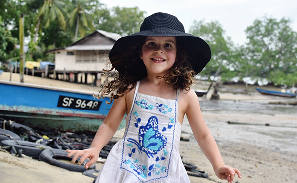 Action-packed adventures in Singapore with kids: Playing in the beach in Pulau Ubin