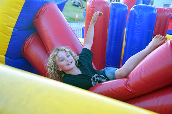 Bouncy castle fun at Hunter Valley Gardens