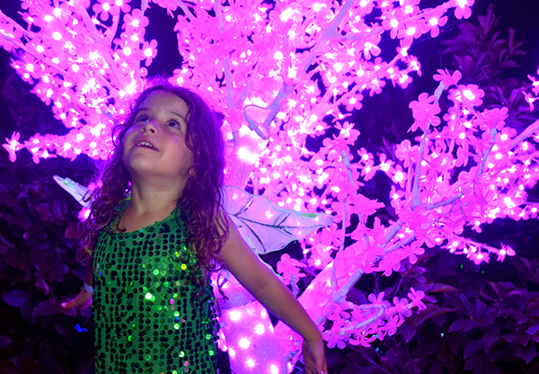 Sugarpuff channelling her inner Tinkerbelle at Hunter Valley Gardens