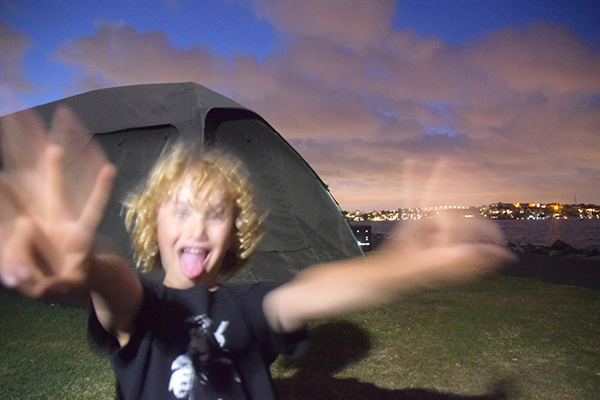 Crazy antics at Cockatoo Island with kids
