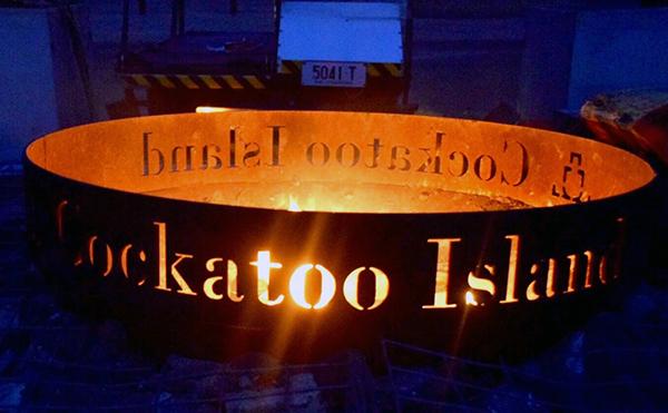 Cockatoo Island campfire