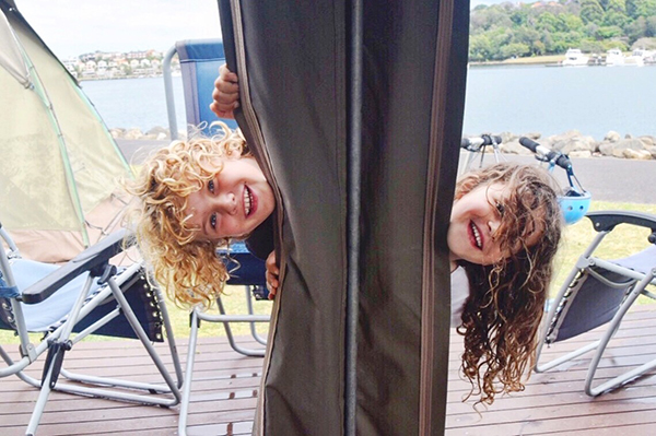 Camping capers on Cockatoo Island with kids