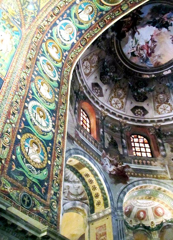 6th century mosaic in the Basilica of San Vitale, Ravenna.