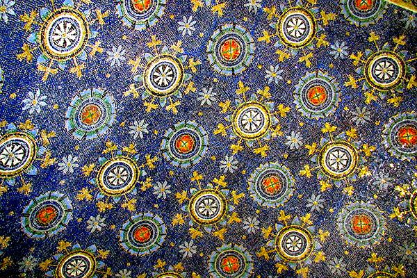 starry sky mosaic Galla Placidia, Ravenna