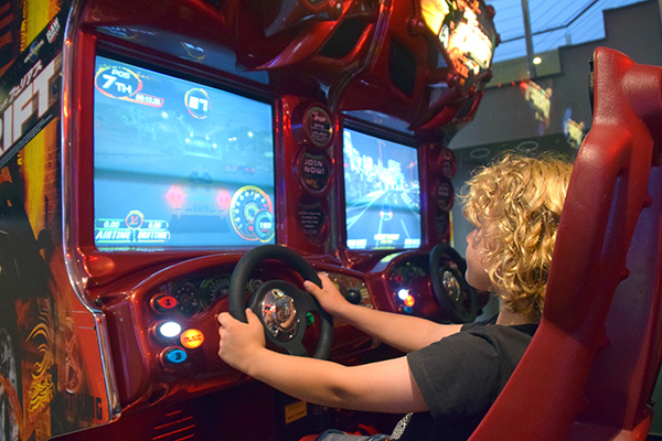 Raffles road raging at the The Dragon's Express at Crowne Plaza Hunter Valley's games arcade