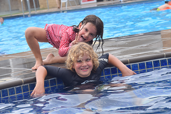 Poolside antics at Crowne Plaza Hunter Valley with kids