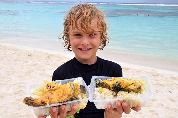 Lunch on Mare, New Caledonia