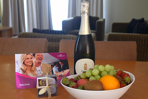 A lovely welcome at Crowne Plaza Hunter Valley