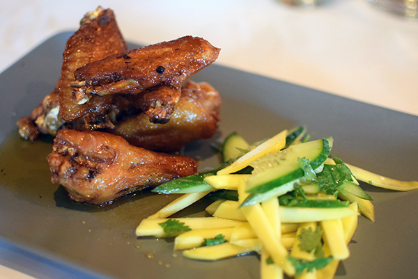 twice cooked chicken wings with spicy lemongrass caramel