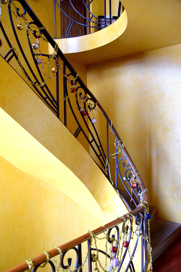 Art Deco Staircase in the historic home at Everglades Gardens, Leura