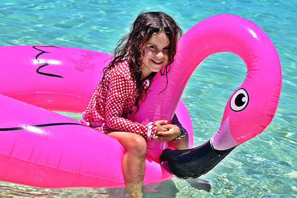 Pretty flamingo Amedee Island Noumea: Carnival Spirit by Kids
