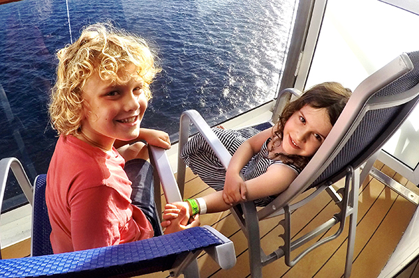 On our balcony: Carnival Spirit by Kids