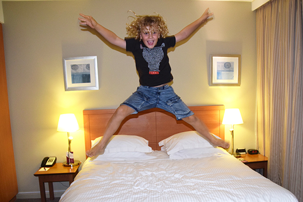 Jumping for joy at Crowne Plaza Newcastle