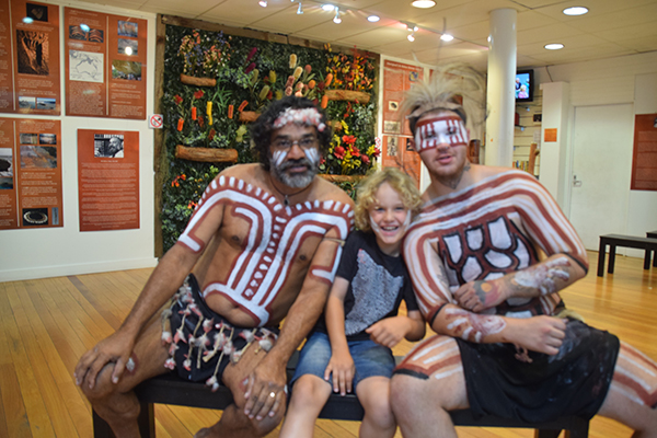 Raff and his news pals from Waradah Aboriginal Centre