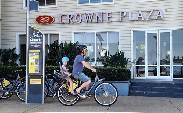 Rental Bikes at the Crowne Plaza Newcastle, NSW
