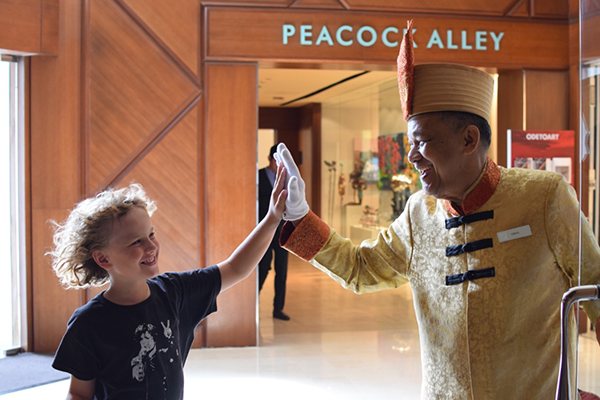 HIgh fives at the Fairmont SIngapore