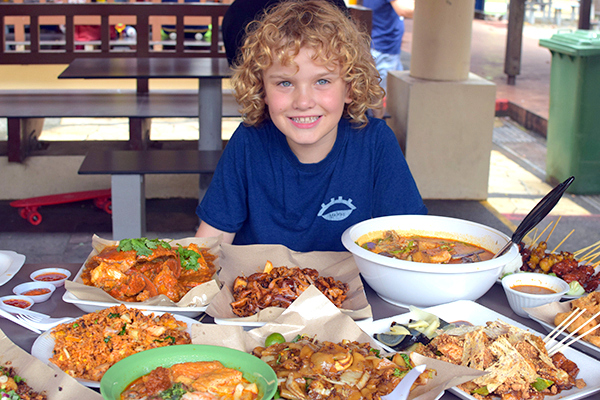 Singapore by kids: A feast at East COast Hawker Markets