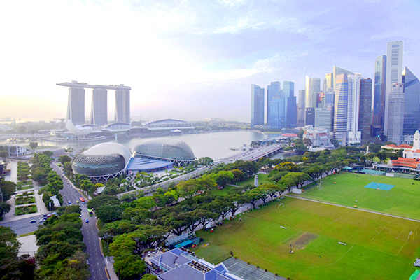 Stunning SIngapore from the Swissotel Stamford