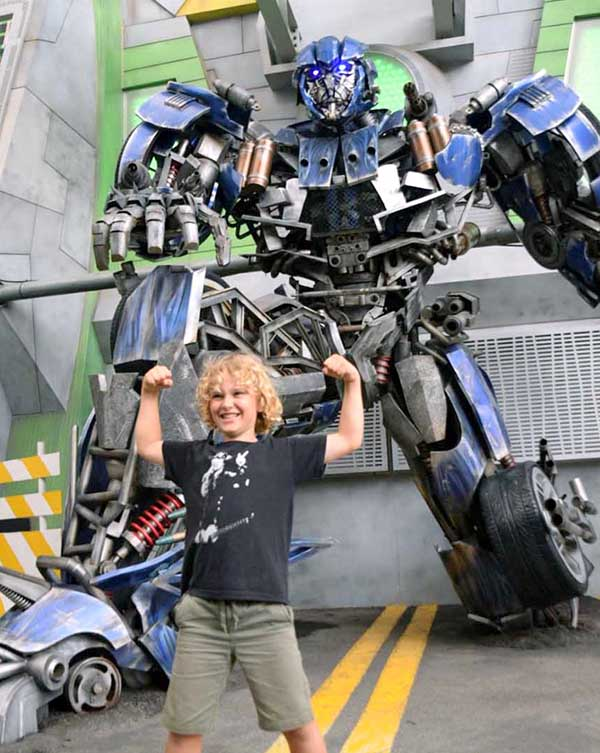 SIngapore by kids: Transformers at Universal Studios Singapore
