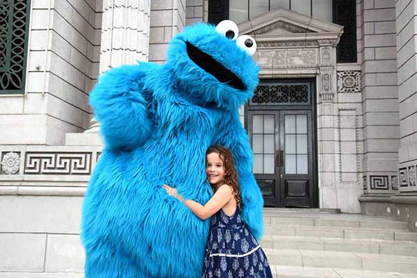 Singapore by kids: cookie monster at Universal Studios SIngapore
