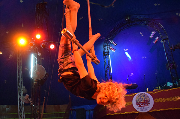 Raffles master the trapeze at Shwe Daug Circus Yangon #escapers17