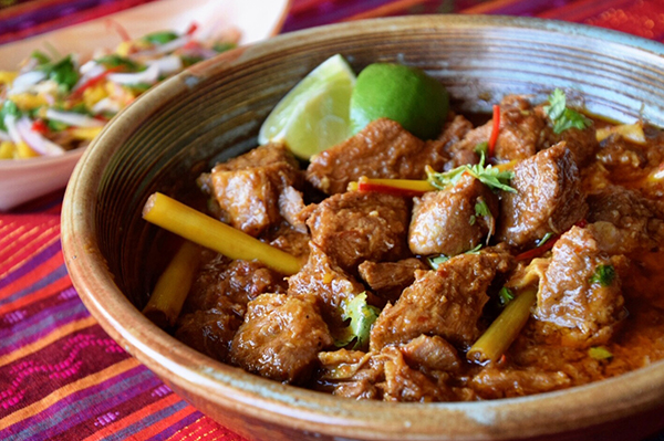 Burmese Pork Curry with Mango Salad recipe