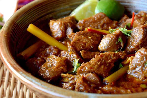 Burmese Pork Curry with Mango Salad
