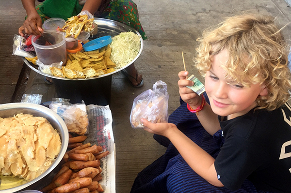 Digging in to street food delights in Yangon #escapers17
