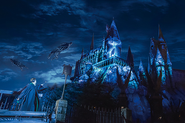 Expecto patronum night show at UNiversal Studios Wizarding World of Harry Potter Japan Photo courtesy Universal Studios japan