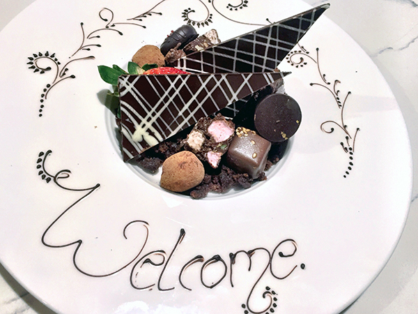 Welcome chocolates at Rydges South Bank Brisbane