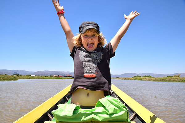 Raffles whooping it up as we rev up and race our way across Inle Lake #escapers17