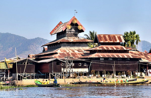 STilted villages on Inle Lake