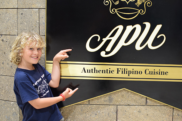 Raffles reviews Apu Filipino Cuisine Manila