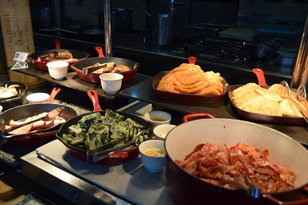 breakfast buffet at Fairmont makati