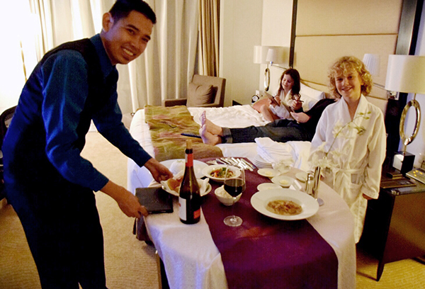 Room service with a smile at Fairmont Makati